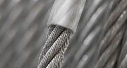 Corde d'acier galvanisée en couche PVC