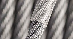 Corde d'acier inoxydable avec revêtement en PVC